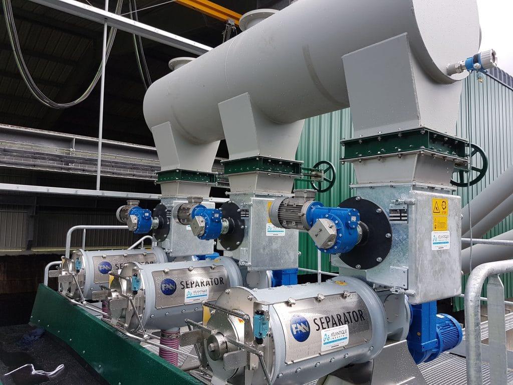 Machine industriel separateur